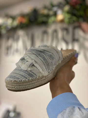 Melodies Espadrille Blue Stripes