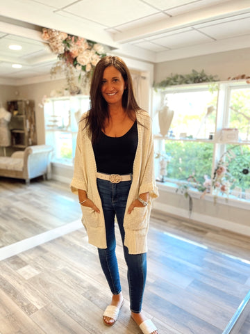 Go-To Cardigan Natural