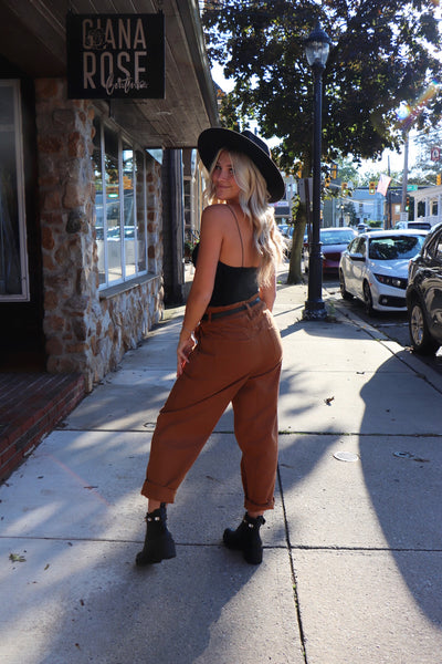 Cheyenne Paper bag Pants Rust