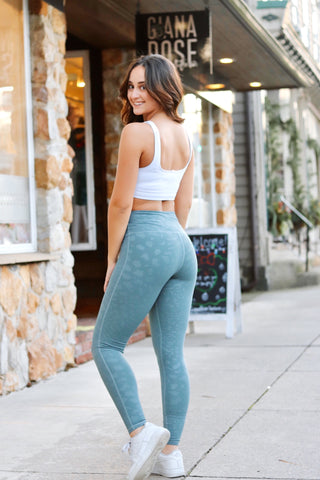 Sage Leopard Leggings