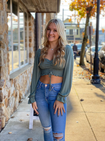 Hang Tight Top Army Green