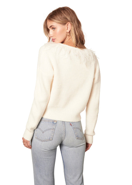Snow Doubt Pearl Sweater