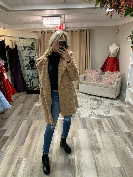 Long Teddy Fur Coat