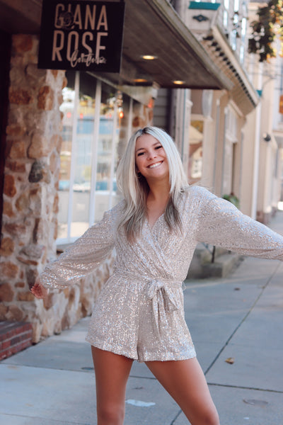 Star Behavior Sequin Romper