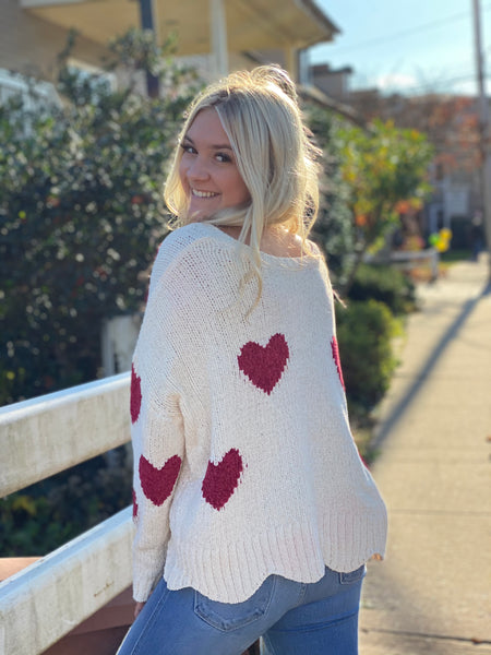 Cream Love Bug Sweater