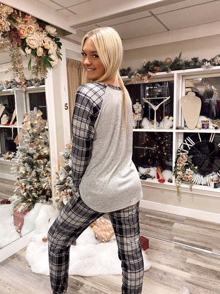 Merry Plaid Jogger Set