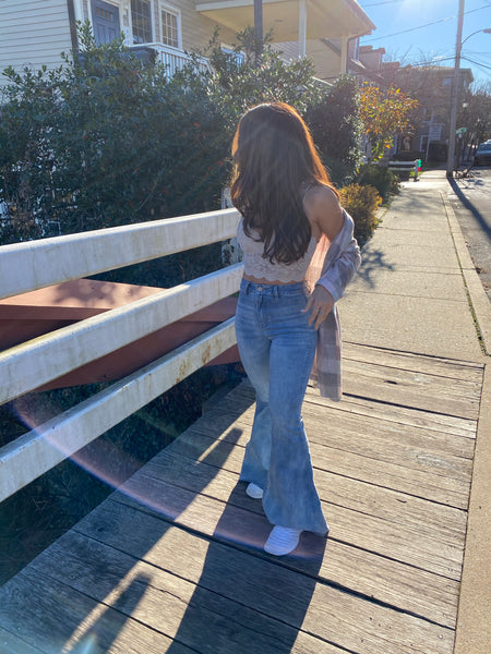 Denim Flares High Rise