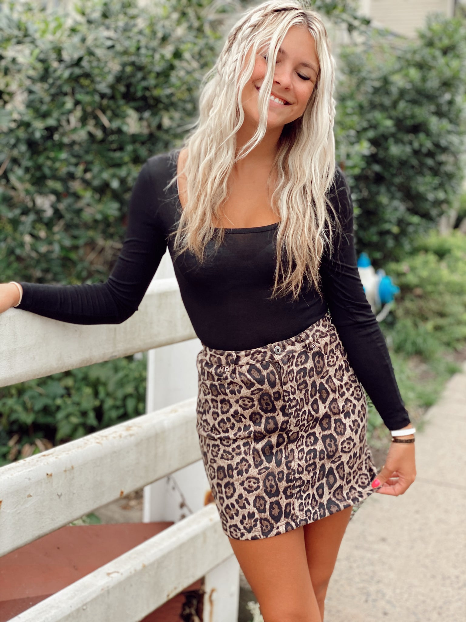 Chrishell Cheetah Skirt