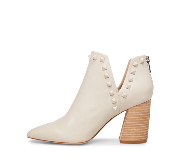 White Leather Bootie