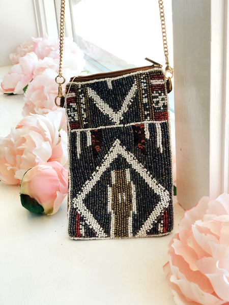 Beaded Cell Phone Bag