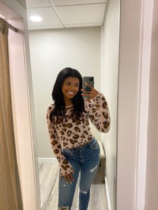 Soft Leopard Fuzzy Sweater