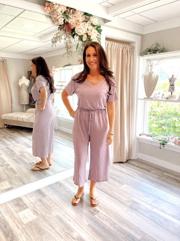 Lounging in Lilac Jumpsuit