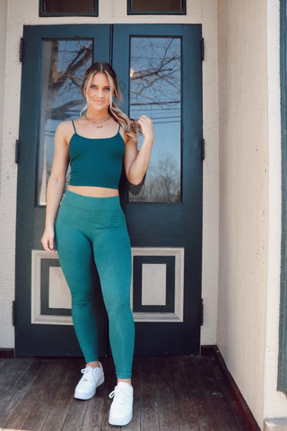 Criss-Crossed Cami Teal