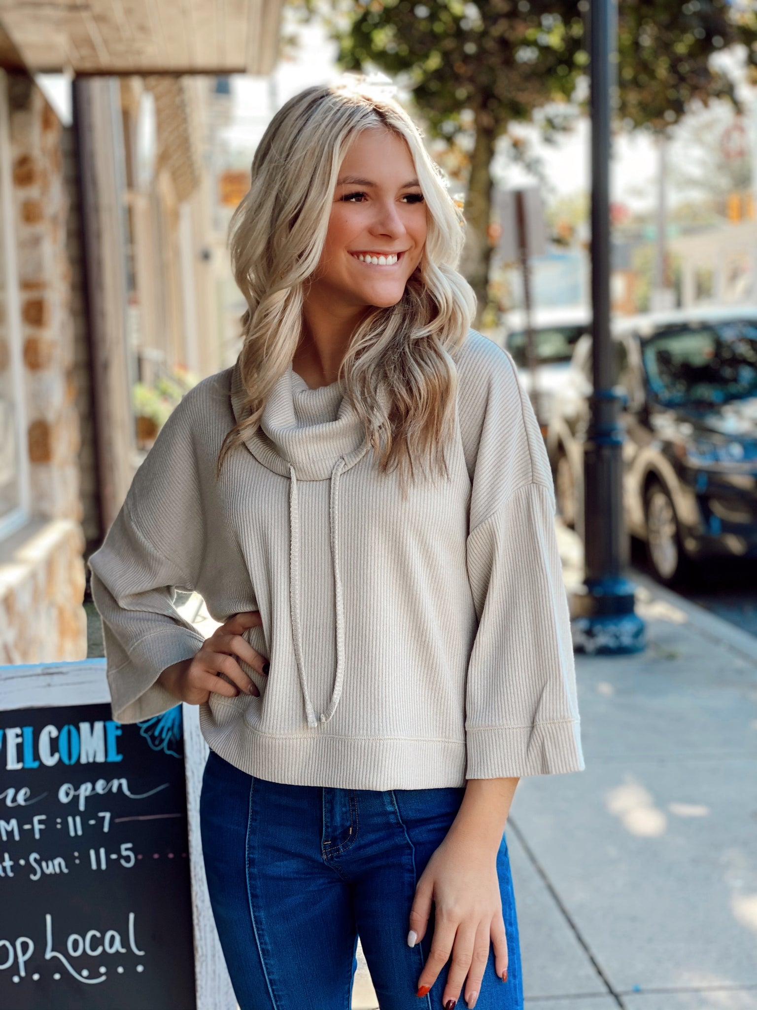 Christa Cowl Neck Sweater