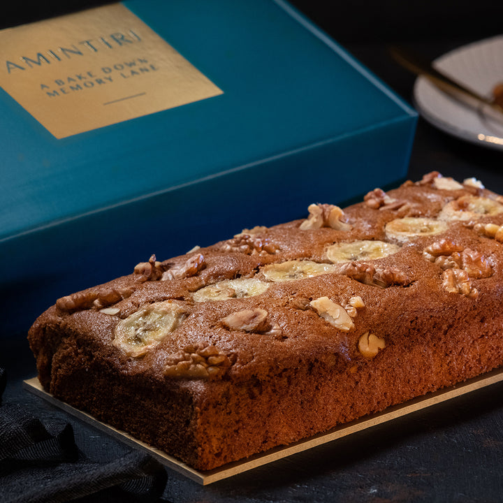 Walnut Banana and Whole Wheat Cake - Order Cakes Online - Amintiri Bangalore