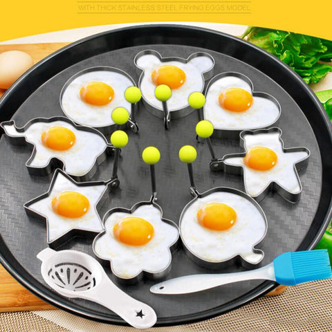 10PCS Stainless Steel Egg/Pancake Ring Omelette Mould