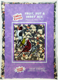 Valley Farms Fruit Nut & Berry Wild Bird Food - High Energy Outdoor Feeder Bird Seed