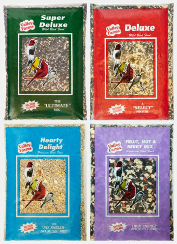 Valley Farms® Bird Lover Gift-Pack! Includes 4 Blends- 4LBS Each