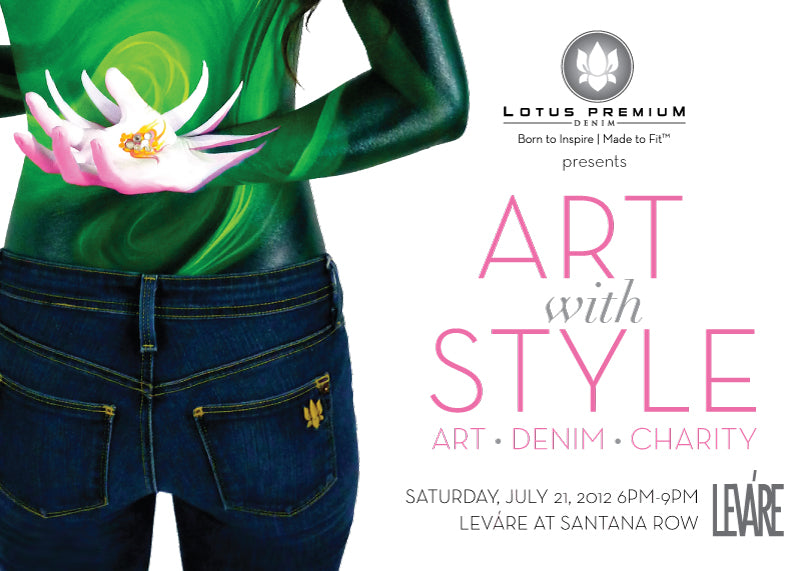 Lotus Premium Denim Art with Style Save the Date