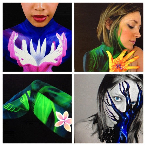 Art with Style Body Paint Collage