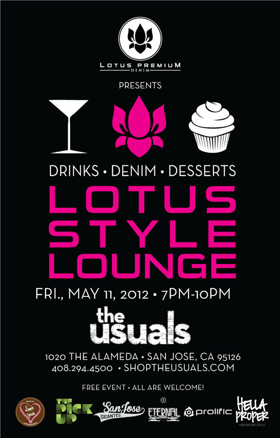 Lotus Premium Denim Lotus Style Lounge at The Usuals Announcement May 2012