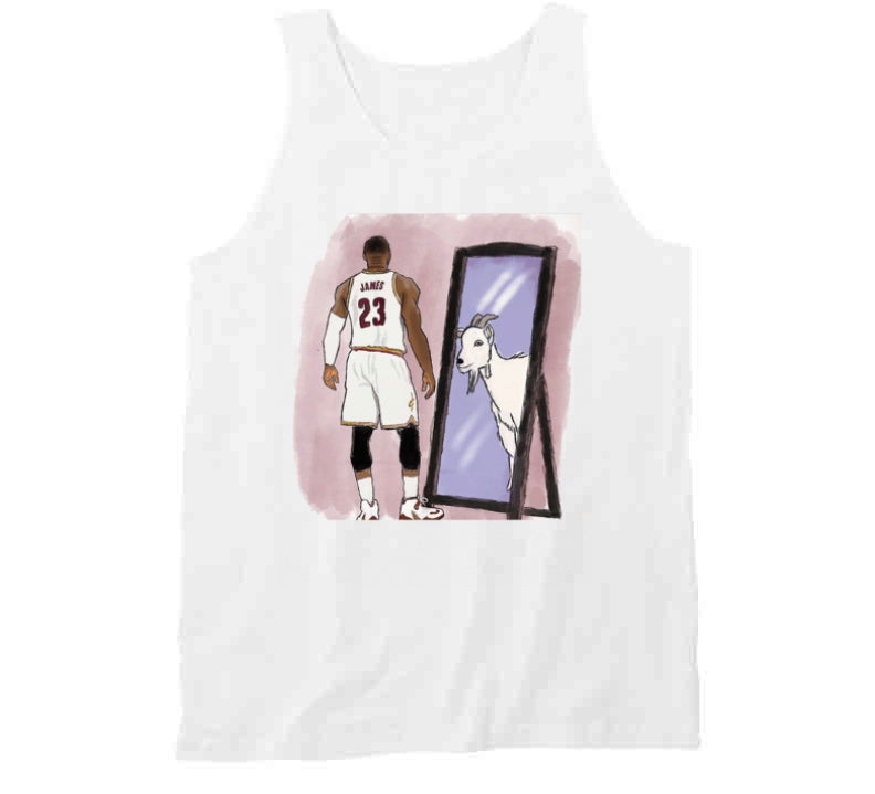 new style e36d4 96831 Lebron James Goat Reflection In Mirror T-shirt