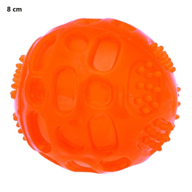 Pet Dog Chew Toy Ball Waterproof Squeak Sound Toys Bite Resistant Teeth Balls For Dogs Training Tooth Cleaning