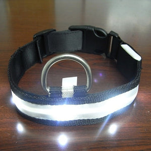 High Quality! Vogue Safety Adjustable Pets Dog LED Lights Flash Night Waterproof Nylon Collar