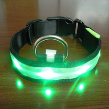 Load image into Gallery viewer, High Quality! Vogue Safety Adjustable Pets Dog LED Lights Flash Night Waterproof Nylon Collar