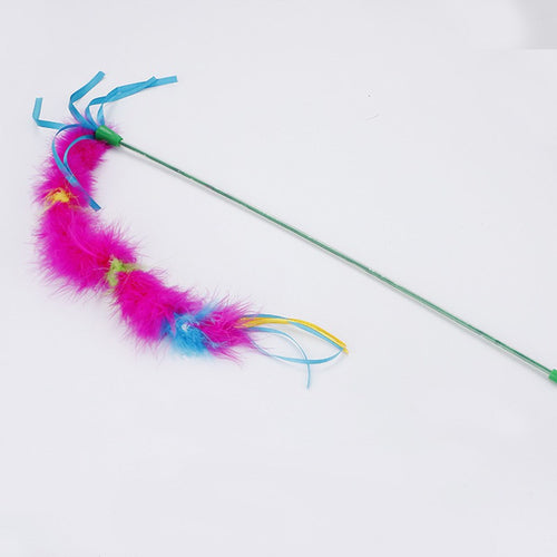 Interactive Feather Teaser Toy