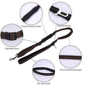 High Elastic Reflective Pet Dog Leash Pet Car Seat Safety Belt Retractable Traction Safety Rope