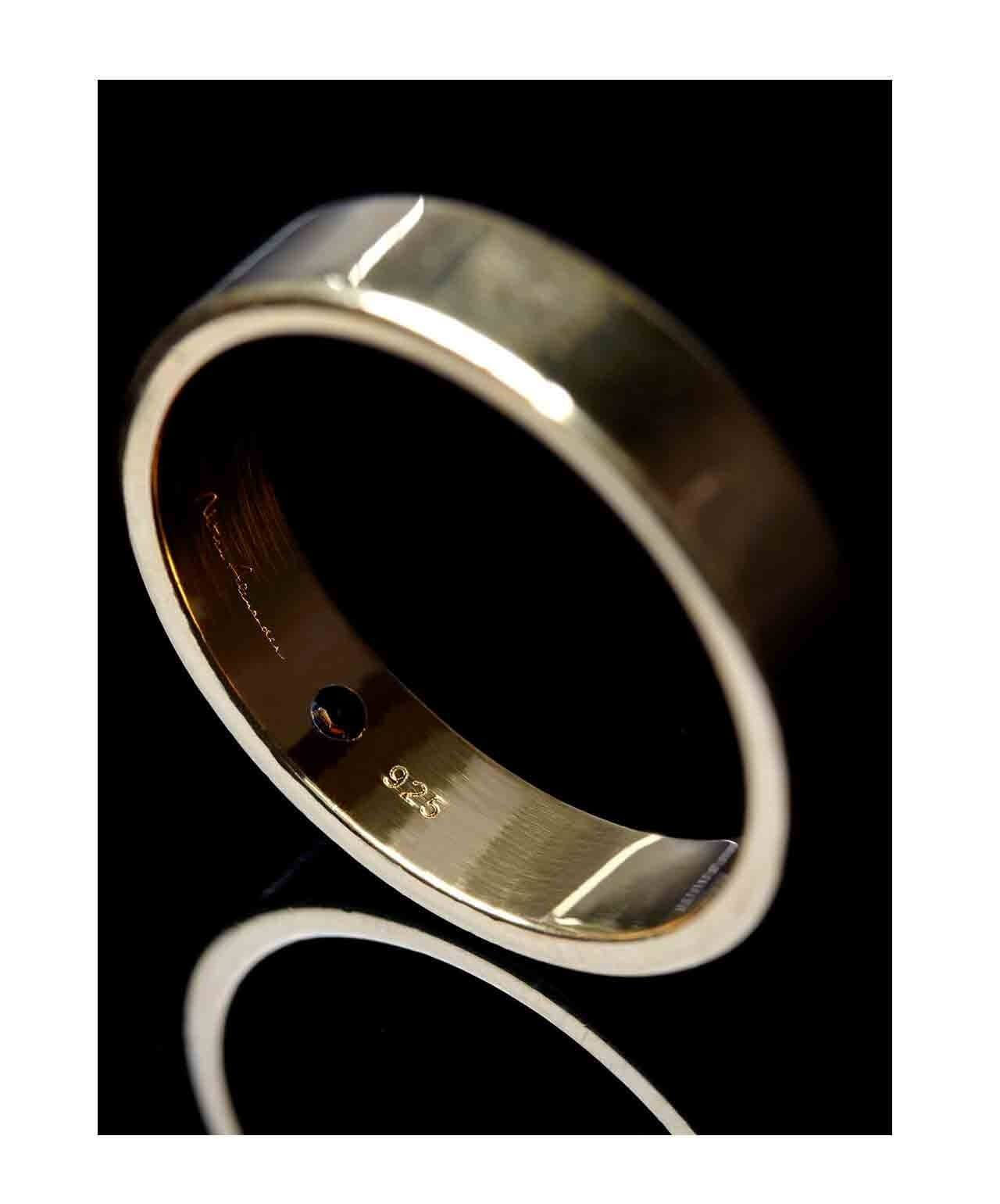 Shungite Classic Band Ring