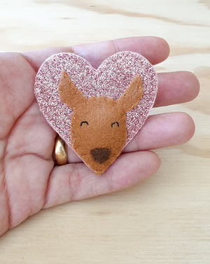Kangaroo brooch / pin / bag charm / Australian animals / Aussie animals