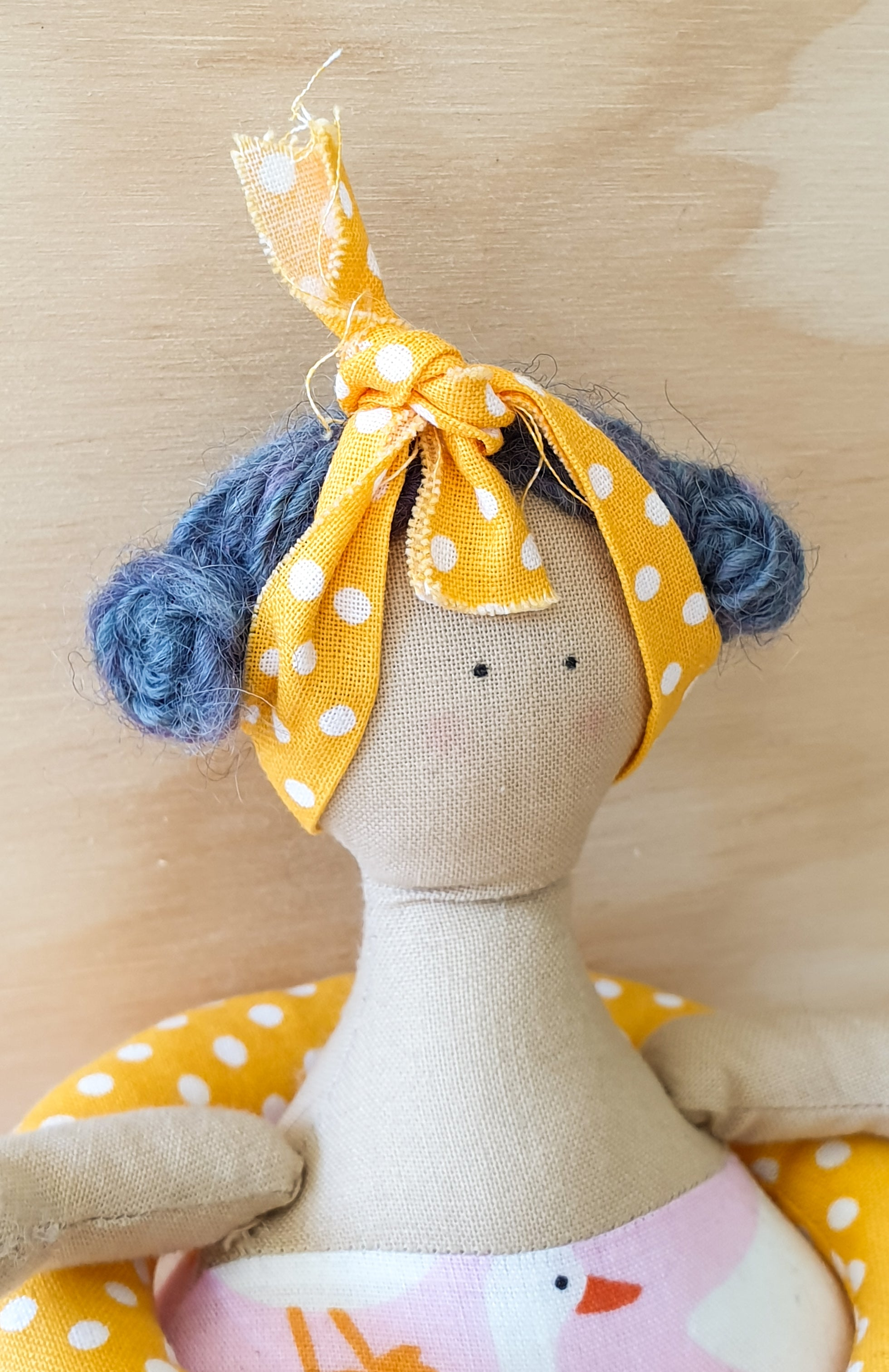 Beach Gal - Cloth doll - Tilda style doll