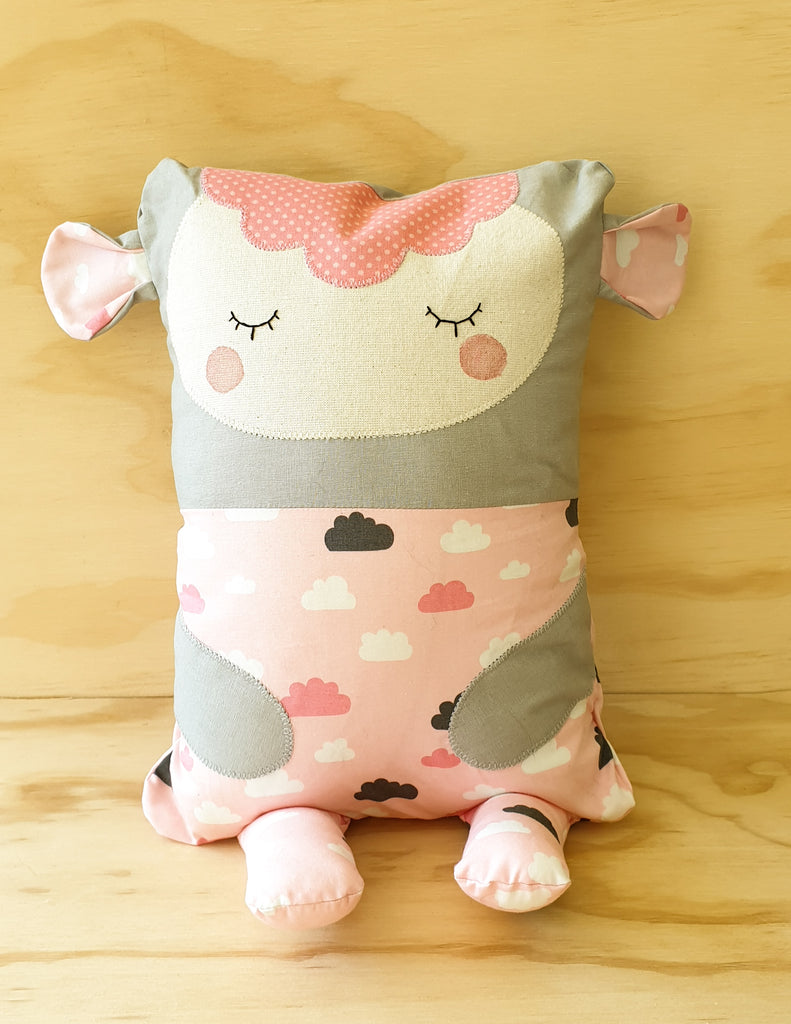 Lamb Cuddle Buddy - Baby pillow / cushion - Toddler pillow / cushion - cute animal