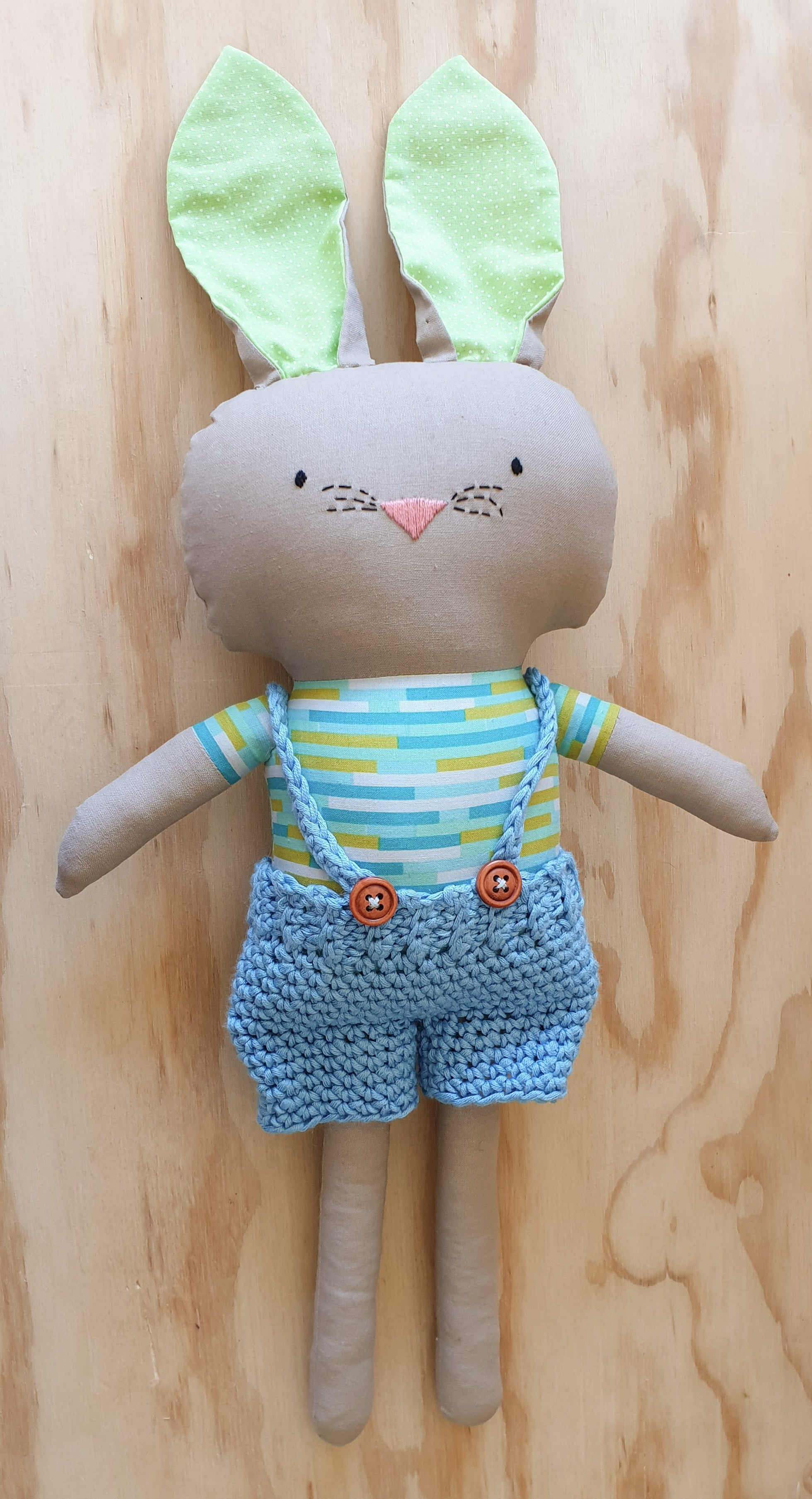 Bunny ragdoll - Stuffed animal - Cloth rabbit