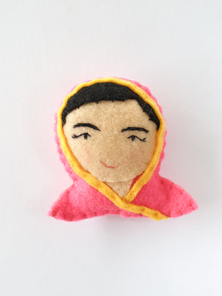 Malala felt brooch / pin / bag charm / Strong women / Girl Power