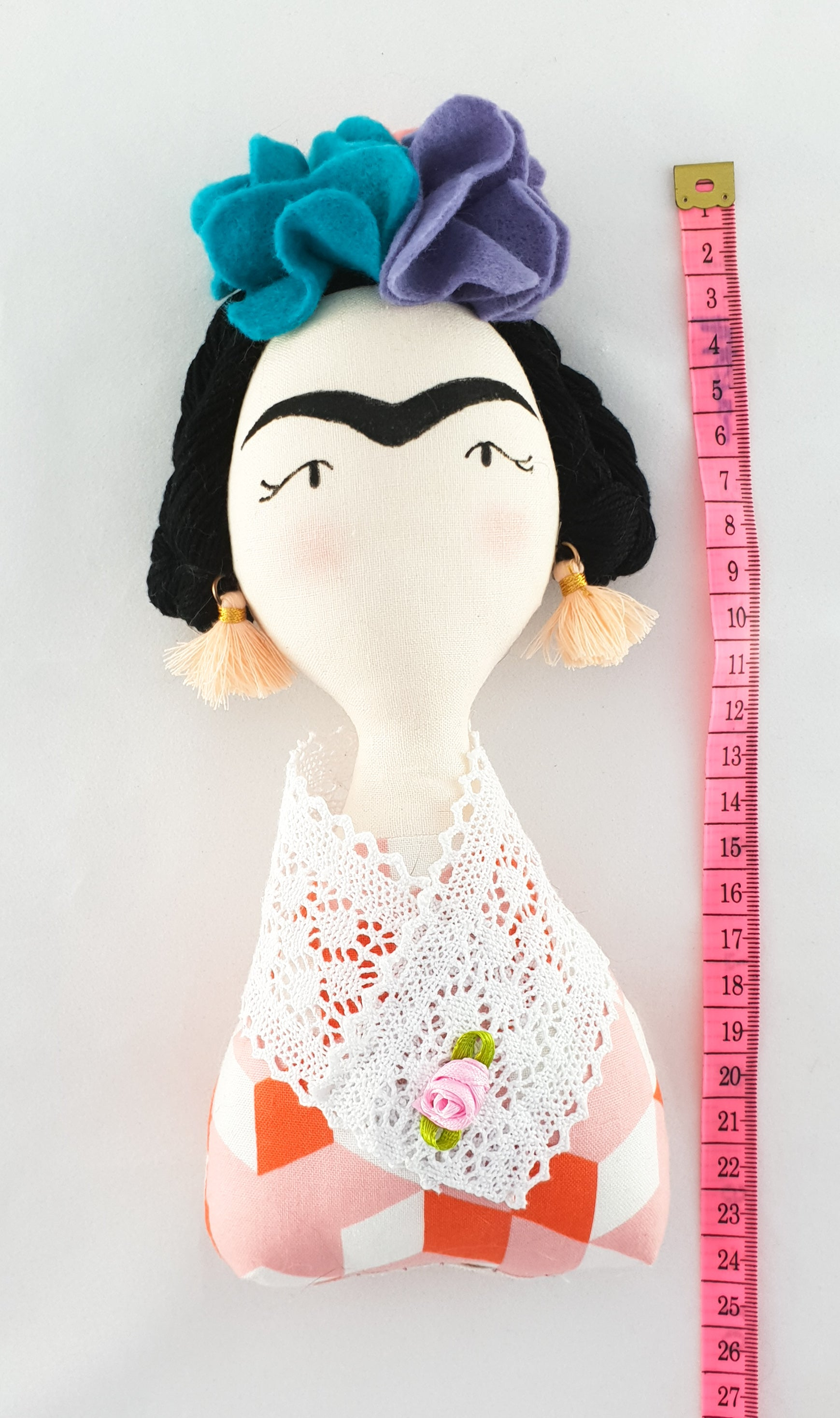Frida Kahlo doll - soft fabric doll - cloth doll