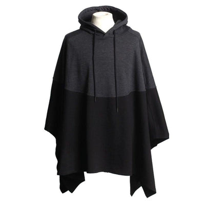 Men's Casual Long Sleeve Casual Hooded Cloak Cape Poncho Sweatshirts Coat Jacket - Chad McMillan Shop
