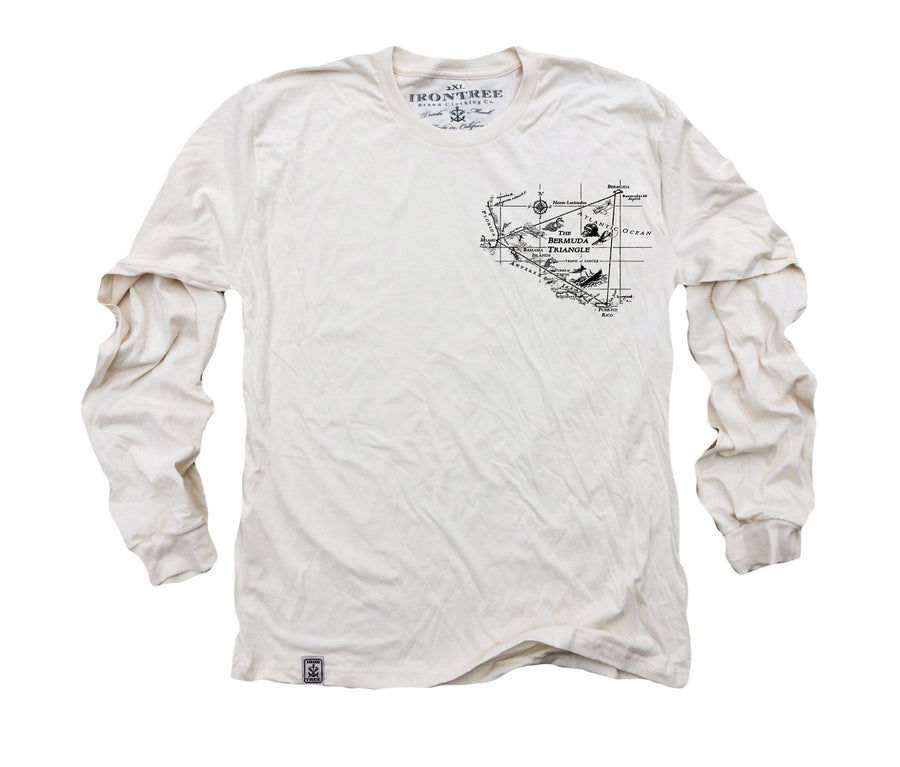 Long Sleeve Bermuda Triangle Organic Cotton Shirt - Chad McMillan Shop
