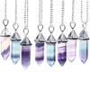 Fluorite Crystal Pendulum Necklace for Dowsing, Chakras, and Divination