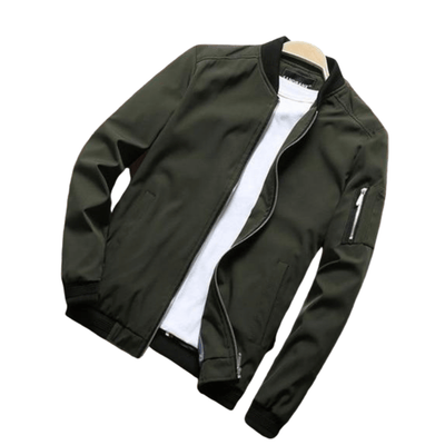 Lightweight Bomber Jacket For Men | Black, Red, Navy Blue, Khaki