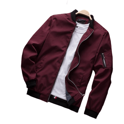 Lightweight Bomber Jacket For Men | Black, Red, Navy Blue, Khaki & Green