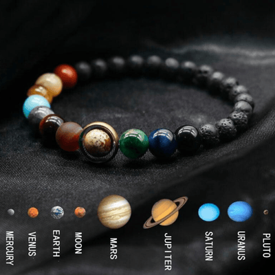 9 Planet Solar System Bracelet for Prosperity and Good Fortune