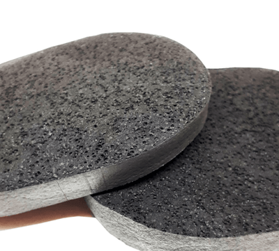 Natural Activated Charcoal Vegan Bamboo Facial Sponge - Chad McMillan Shop