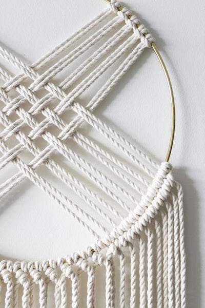 White Cotton + Brass Hoop Macrame X Dreamcatcher - Chad McMillan Shop