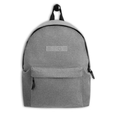Elements of Nature Embroidered Backpack | White