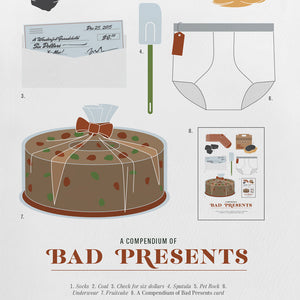 A COMPENDIUM of BAD PRESENTS | WEIHNACHTSKARTE | Pop Chart Lab