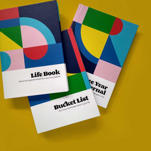 BUCKET LIST & LIFE BOOK & THREE YEAR JOURNAL | Set aus 3 LEBENSZIELE PLANER & BÜCHER | A5 | nolki - Charles & Marie