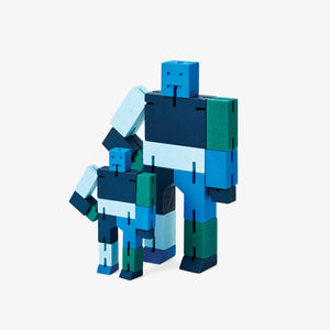 CUBEBOT® Capsule Collection | 3D PUZZLE ROBOTER | Blau Multi | David Weeks | Areaware